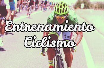 Rutina de entrenamiento en ciclismo