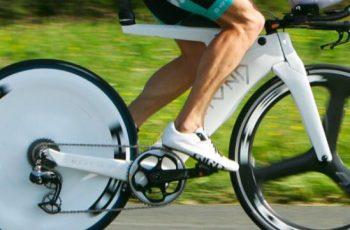 El monoplato en la bicicleta