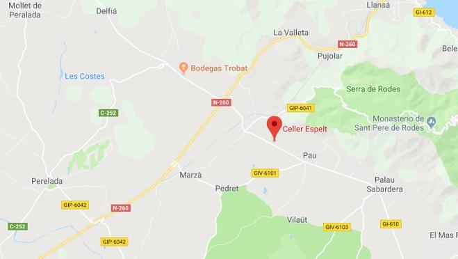 Localización Celler Espelt