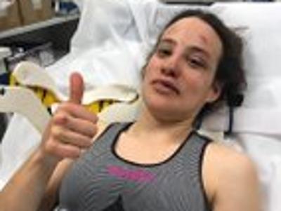 Lucía González en el hopital