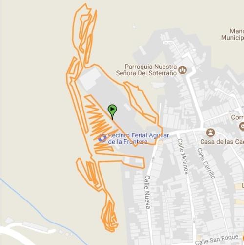 Plano del circuito BTT Ciudad de Aguilar